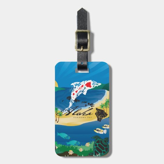 Aloha Hanauma Bay Hawaii Islands Luggage Tag