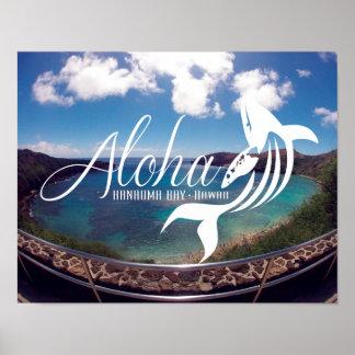Aloha Hanauma Bay Hawaii Posters
