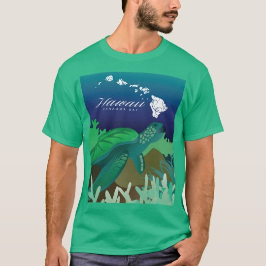 Aloha Hanauma Bay Hawaii Turtle and Dolphin T-Shirt