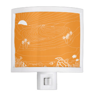 Aloha Hanauma Bay Hawaii Turtle Night Light