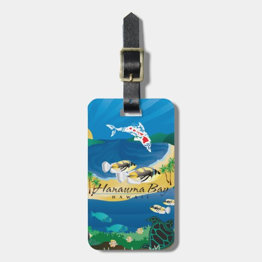 Aloha Hanauma Bay Humuhumunukunukuapua'a Luggage Tag