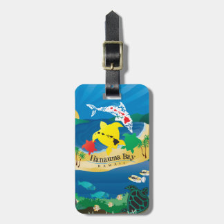 Aloha Hanauma Bay Turtles Luggage Tag