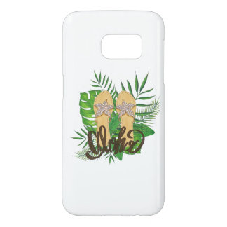 Aloha Hand Painting Palm Leaves Hand Drawn Samsung Galaxy S7 Case