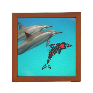 Aloha Hawaii Dolphin and Whale Desk Organizer