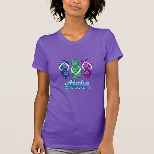 ALOHA - Hawaii Flip Flops T Shirts