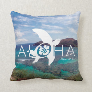 Aloha Hawaii Honu Turtle Throw Pillow