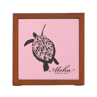 Aloha Hawaii Islands and Turtle Desk Organizer