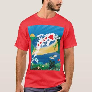 Aloha Hawaii Islands Dolphin T-Shirt