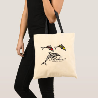 Aloha Hawaii Islands Dolphins Tote Bag