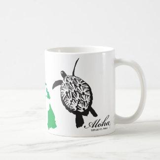 Aloha Hawaii Islands Dolphins Turtle Coffee Mug