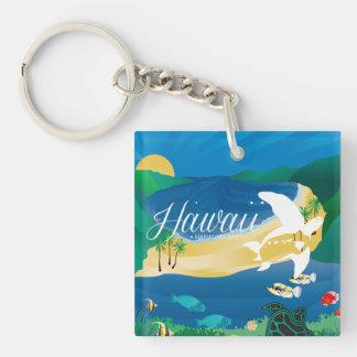 Aloha Hawaii Islands Honu Keychain