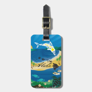 Aloha Hawaii Islands Luggage Tag