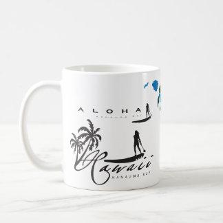 Aloha Hawaii Islands Surfing Coffee Mug