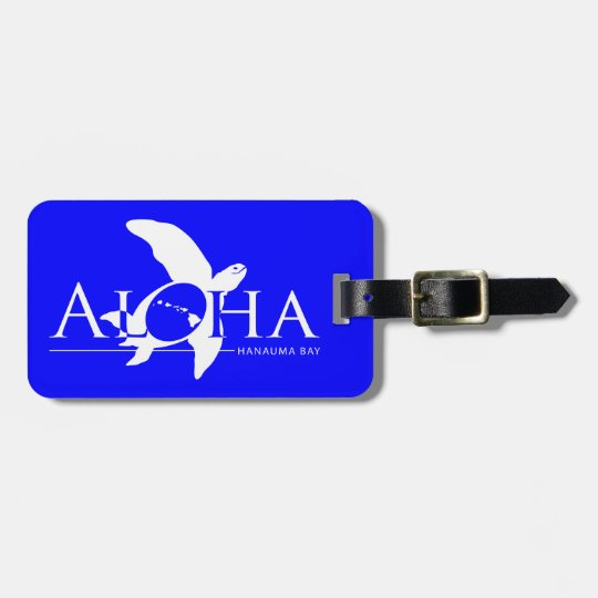Aloha Hawaii Islands Turtle Luggage Tag