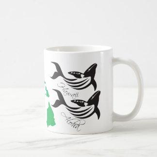 Aloha Hawaii Islands Whales Coffee Mug