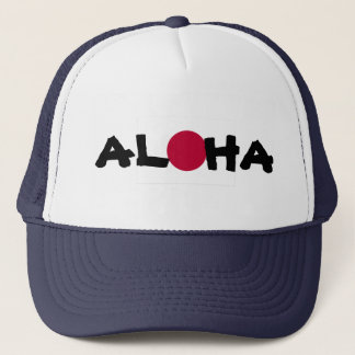 Aloha Hawaii Japanese Rising Sun Flag Trucker Hat