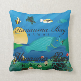 Aloha Hawaii Parrot Fish Throw Pillow