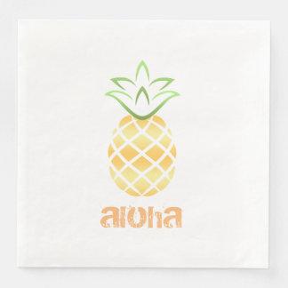 aloha hawaii pineapple cocktail napkins luau