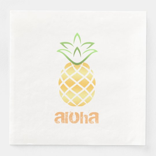 aloha hawaii pineapple cocktail napkins luau disposable napkins