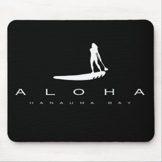 Aloha Hawaii Stand Up Paddling Mouse Pad