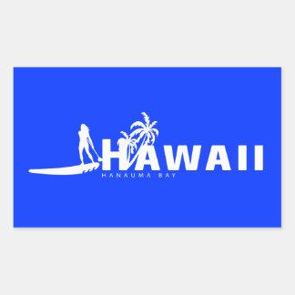 Aloha Hawaii Stand Up Paddling Sticker