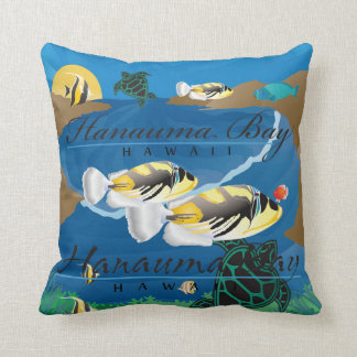 Aloha Hawaii State Fish Throw Pillow