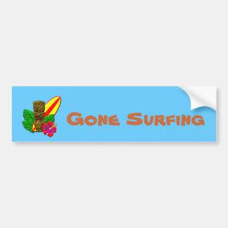 Aloha Hawaii Surfer Bumper Sticker