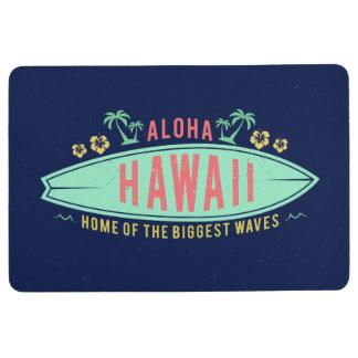 Aloha Hawaii Surfer floor mat