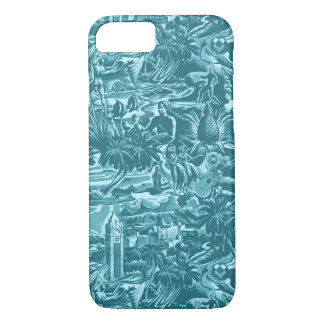 Aloha Hawaii Tropical Scenic of Oahu iPhone 8/7 Case