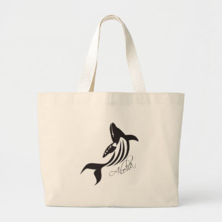Aloha Hawaii Whale Large Tote Bag