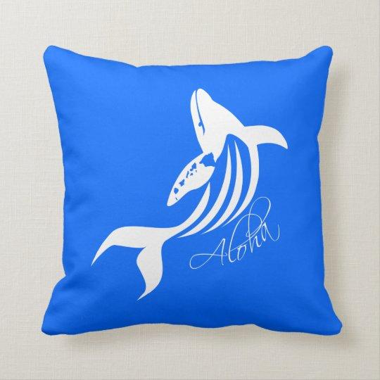 Aloha Hawaii Whale Throw Pillow
