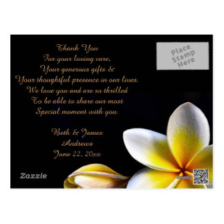 Aloha Hawaiian Frangipani Luau Thank You Cards