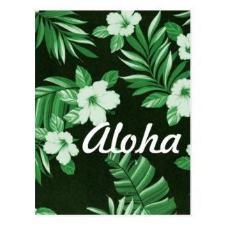 Aloha Hawaiian Hibiscus Flower & Leaves Prints Postcard
