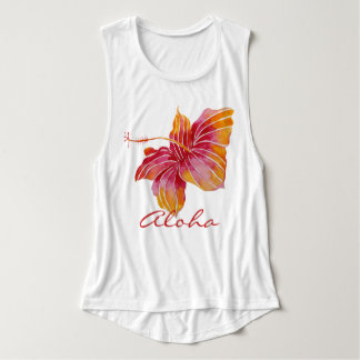 Aloha | Hawaiian Hibiscus Flower Tank Top