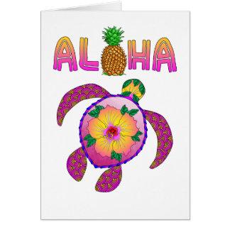 Aloha Hawaiian Honu Turtle Card