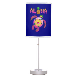 Aloha Hawaiian Honu Turtle Table Lamp