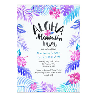 Aloha Hawaiian Invitation