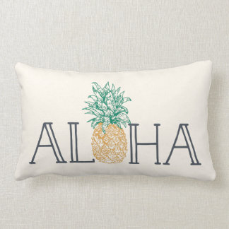 Aloha Hawaiian Pineapple Lumbar Pillow