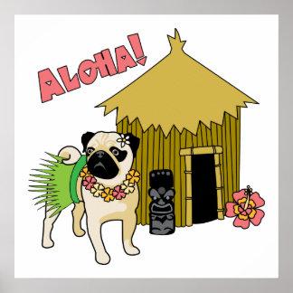 Aloha! Hawaiian Pug Posters and Prints