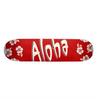 Aloha Hawaiian Red Skateboard Deck