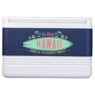 Aloha Hawaiian Surfer custom cooler