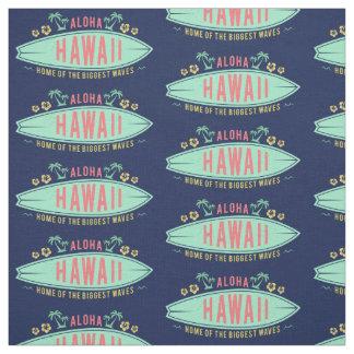 Aloha Hawaiian Surfer custom fabric