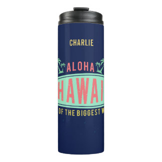 Aloha Hawaiian Surfer custom name tumbler