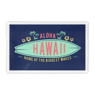 Aloha Hawaiian Surfer serving trays