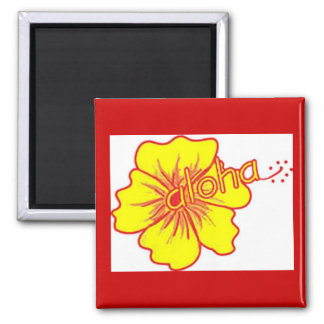 Aloha Hibiscus by Artistic Vibe Magnet