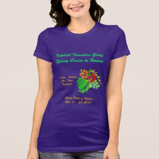 Aloha Hibiscus Custom Group Cruise Dark T-Shirt
