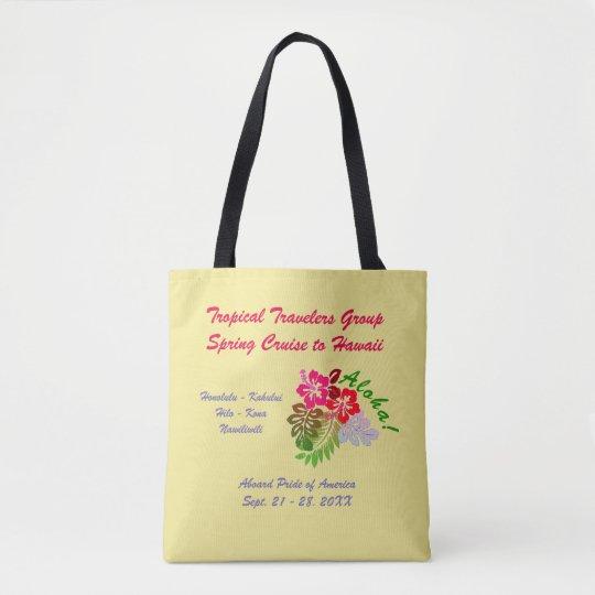 Aloha Hibiscus Custom Group Cruise Tote Bag