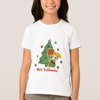 Aloha Honeys Christmas Blond Hula Girl T-Shirt