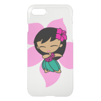 Aloha Honeys Hawaiian Pink Hibiscus Hula Girl iPhone 8/7 Case