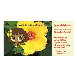 Aloha Honeys Luau Invite Customized Photo Card